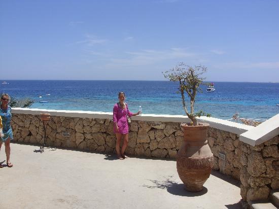 Reef Oasis Beach Resort: Half way down to beach