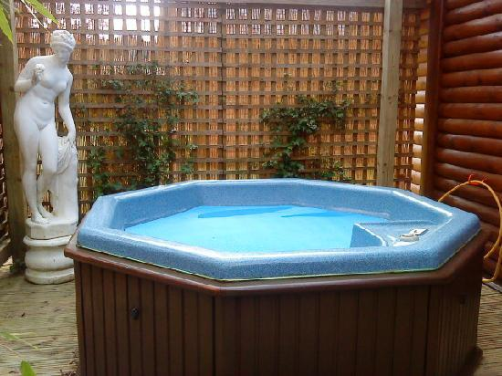 Tilford Woods Lodge Retreat: private hot tub