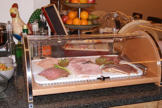 Binnenhof Hotel : voorbeeld van het buffet