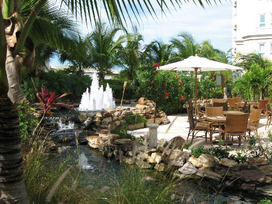 Seven Stars Resort & Spa: Water fall next to terrace