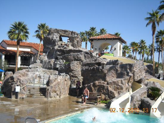 Rancho Mirage, Californie : Double water slide