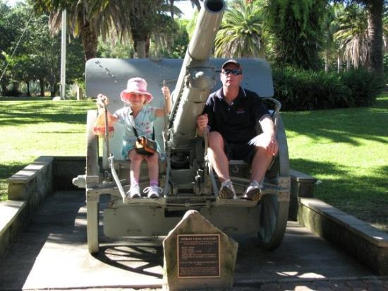 At a german gun post at the war memorial in Rockhampton