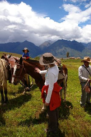 Cusco for You Salineras Ranch: Meeting our horses
