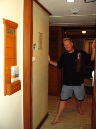 Holiday Inn Resort Phuket: The birthday boy at our resort room at the Holiday Inn Phuket