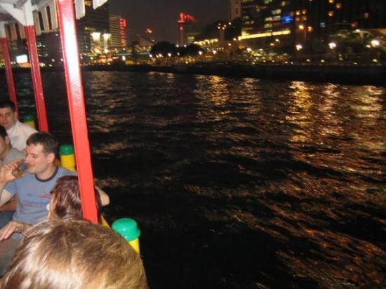 """Star Ferry: Me and my buddy Peder beginning our  """"All you can drink & eat tour""""."""