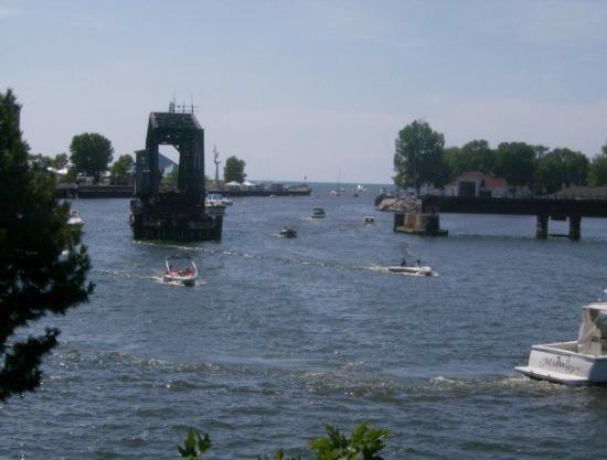 Saint Joseph, MI: the train bridge in the St. Joe River