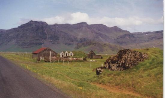 Iceland. I took this picture from the window of a bus that we were on for 5 hours to get to our