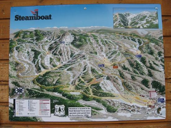 A trail map - Picture of Steamboat Springs, Colorado - TripAdvisor
