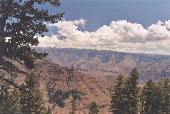 Joseph, Oregón: Hells Canyon taken from the Oregon side of the Snake River
