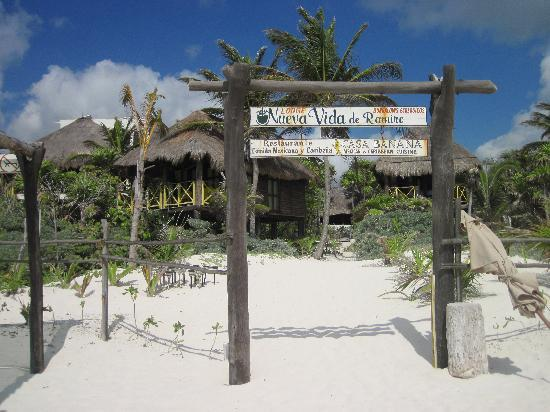 Nueva Vida de Ramiro: Beach entrance to NVR