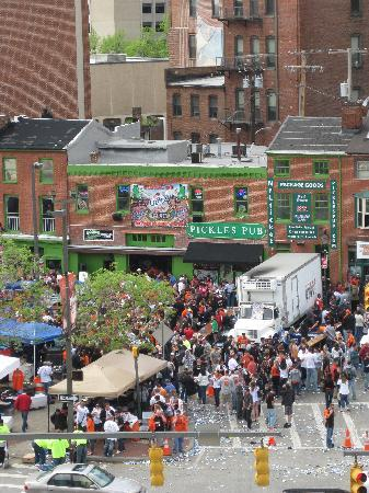 Pickles Pub: Pics of Pickles from the top of Camden Yards