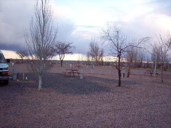 Holbrook / Petrified Forest KOA: Petrified Forest KOA empty in April