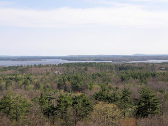 Stratham, Nueva Hampshire: view from the watchtower -77 steps- looking over Great Bay
