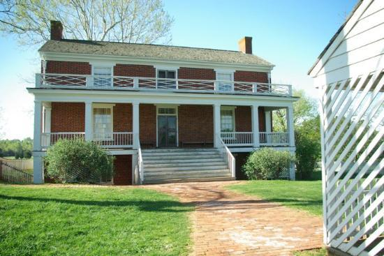 Appomattox, VA: The front of the McLean house. Gen. Robert E. Lee and Gen. Ulysses S. Grant walked this path and