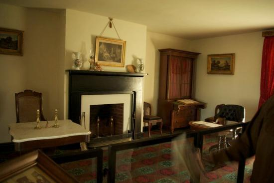 Appomattox, VA: The inside of the McLean House, where Gen. Robert E Lee surrendered to Gen. Ulysses S. Grant. Th