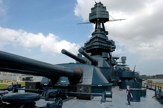 La Porte, TX: West on the USS Texas.  2009