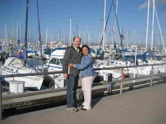 Museum of Monterey : At the Marina with my LOVA, Sam took the pic