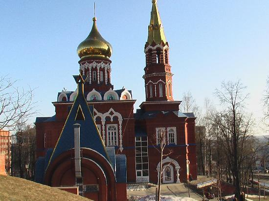 Izhevsk, Russie : near the cathedral