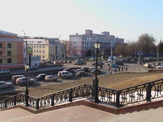 Izhevsk, Russia: leader to the cathedral