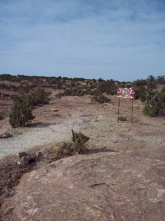 White House Ruins Trail: Start of trail