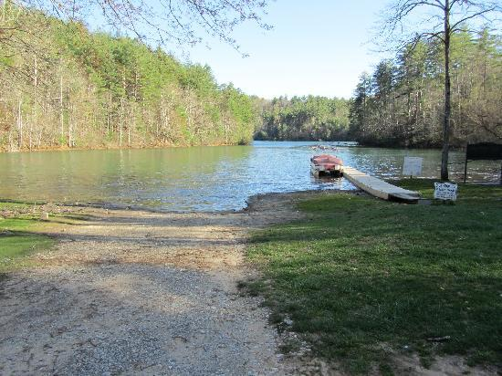 Robbinsville, NC: Lake and the Pontoon Boat