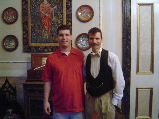 Antebellum Guest House: My hubby and our host Keith.