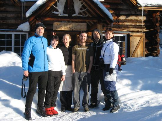 Skoki Lodge: Our group with some of the Skoki staff