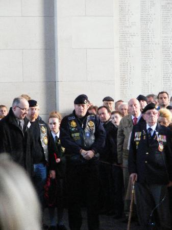 B&B Hortensia: Attending the parade at the Menin Gate and laying a wreath