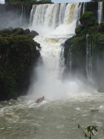 Foz do Iguacu, PR: And they enter the waterfalls