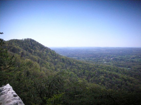 Knoxville, TN: View from the rock outcrop on the eastern end of the Summit Trail