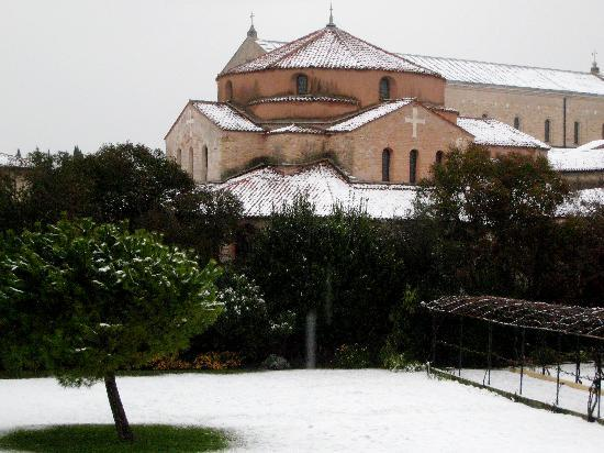 Torcello, Italia: View from our room on New Year's Day, 2009