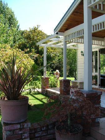 Deb Hostess at Acacia Bay Lodge in garden