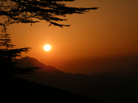 sunset @ chail
