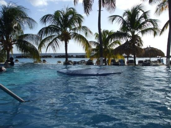 Willemstad, Curacao: A view of the ocean from the infinity pool.