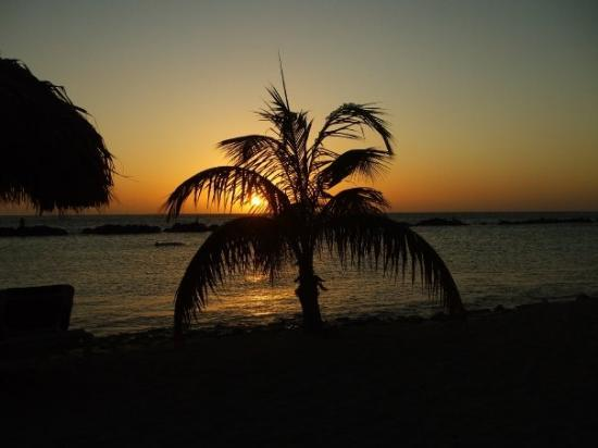 Willemstad, Curacao: One of many beautiful sunsets.
