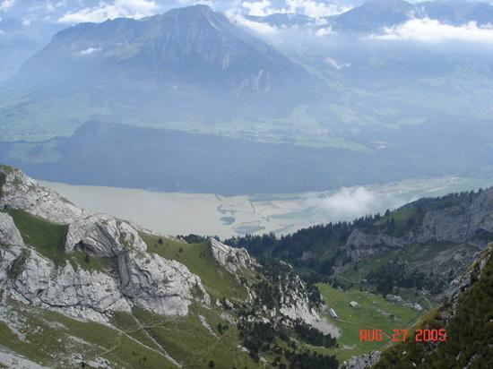 Mount Pilatus: From this peak we could see the beauty of all that is down Luzern....