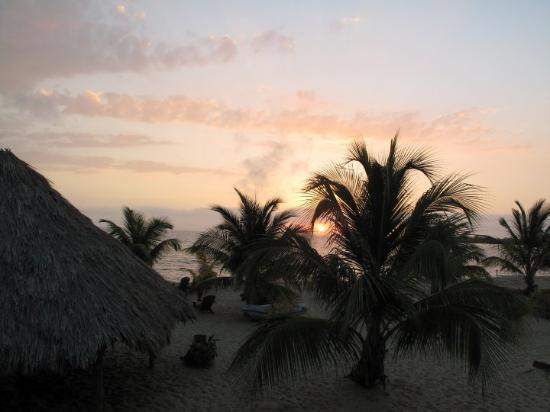 Placencia, Belize: Sunrise on the Caribbean, from our room