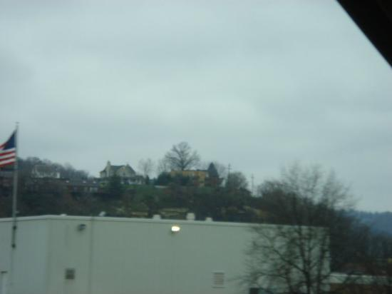 Some houses up on a hill overlooking Charleston, WV. That's some prime real estate!!