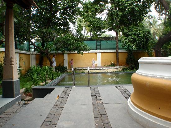 Tea Bungalow: Part of the courtyard, with pool