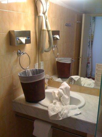 Hotel Massena: Unserviced bathroom