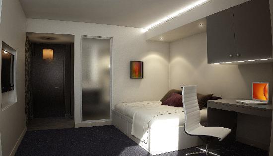 هوتل كين: Guestroom rendering