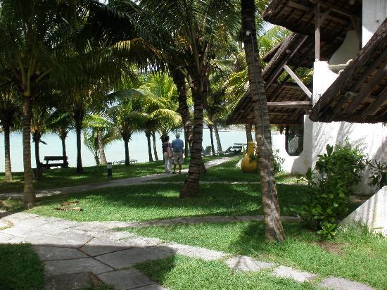 Hotel Alidou: vue de la plage notre chambre