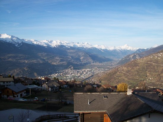 Nendaz, Switzerland: view from our balcony