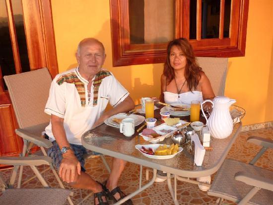 Las Lajas, Panama: Frühstück auf priv. Terasse