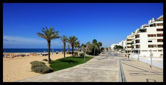 Board walk opposite our office in Quarteira Portugal - pic Scott Powick
