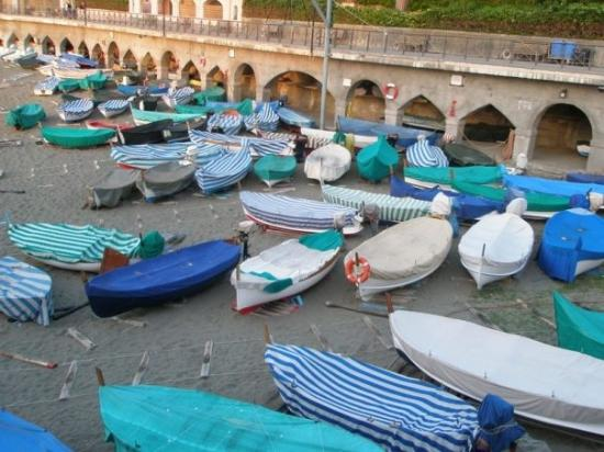 Boats on Levanto beach