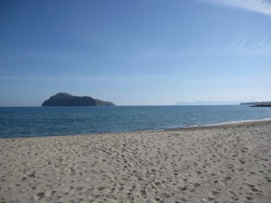 The beach in Platanias.