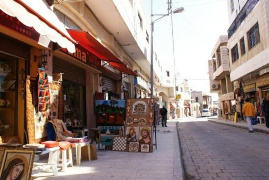 "Madaba, Ürdün: The ""tourist"" street"