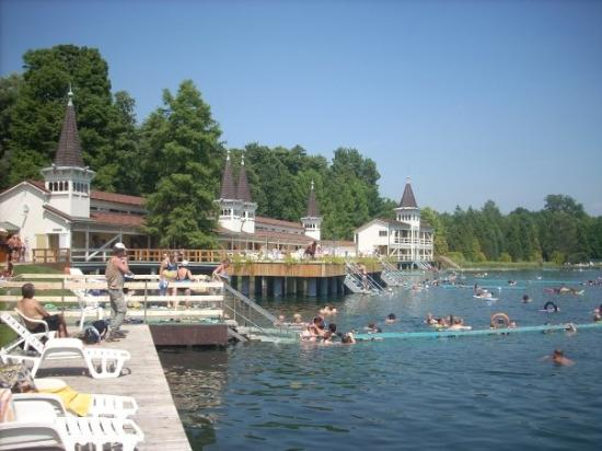 Thermal Lake of Hévíz: Heviz y su lago de aguas termales. Olor a azufre y agua a 37ºC!!