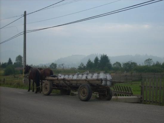 """Bistrita, Rumänien: Esto es lo que se llama """"medio rural"""" ;-D"""
